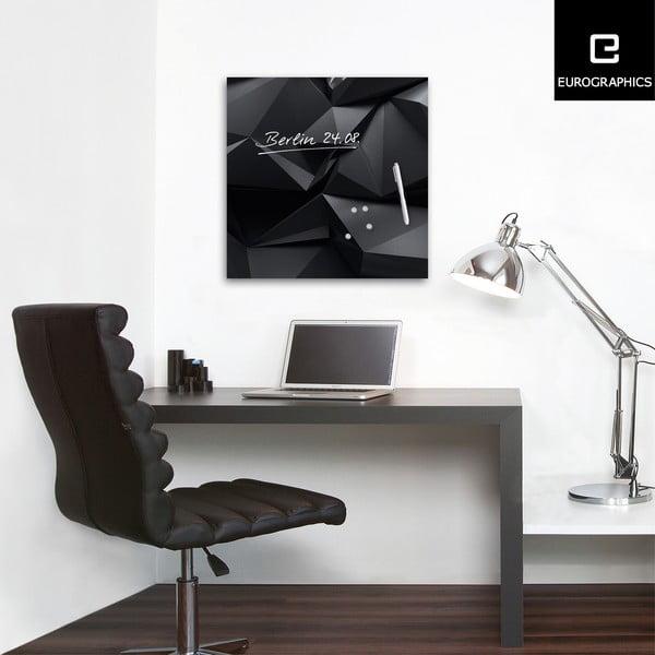Magnetická tabule Eurographic Graphite Crystal, 50x50cm
