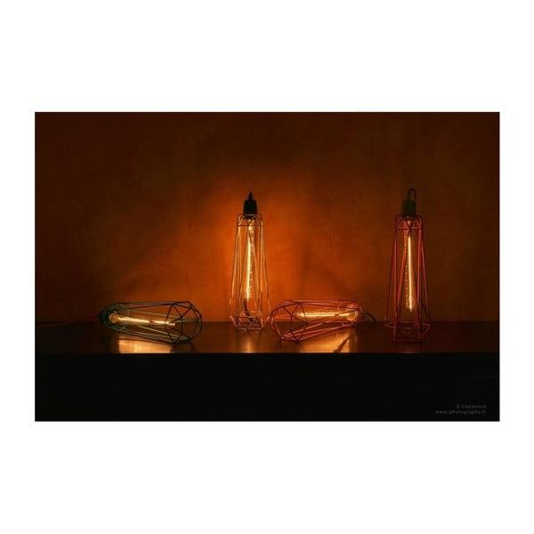 Světlo se zlatým stínítkem a černým kabelem Filament Style Diamond #2