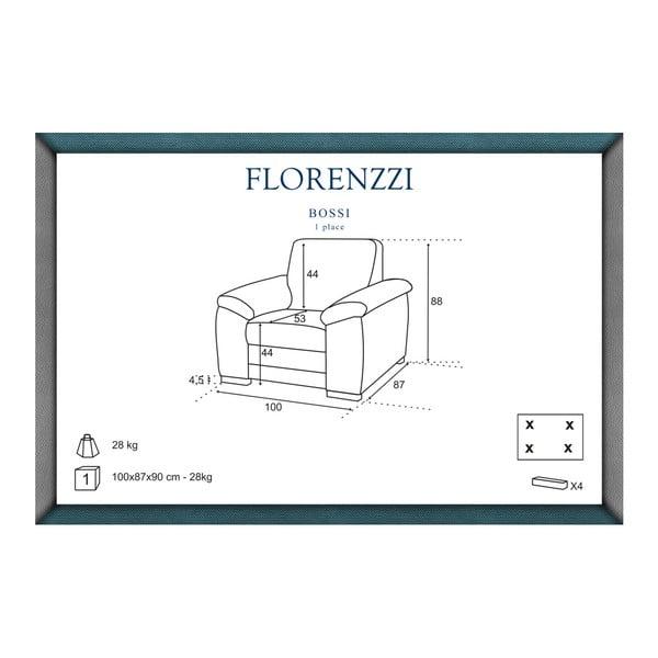 Černé křeslo Florenzzi Bossi