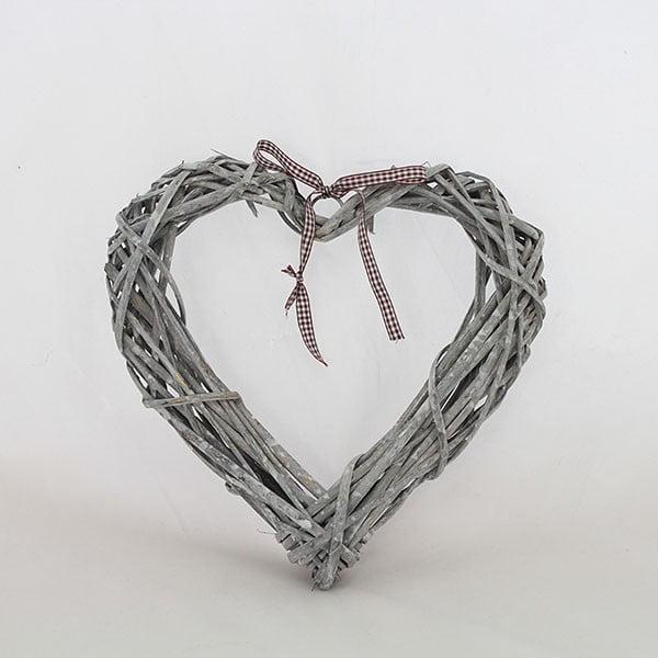 Dekorativní ratanové srdce IV