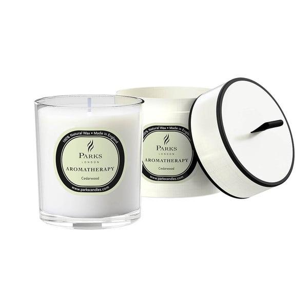 Lumânare parfumată Parks Candles London Aromatherapy, aromă de lemn de cedru, 45 ore