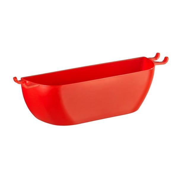 Czerwony koszyk ścienny Wenko Turbo-Loc Brasil Red