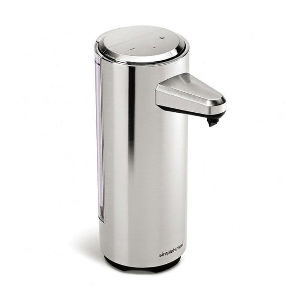 Stříbrný matný bezdotykový dávkovač mýdla simplehuman Gessi