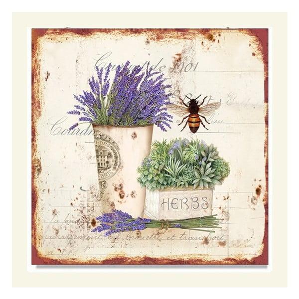 Nástěnná dekorace Lavender, 2 ks