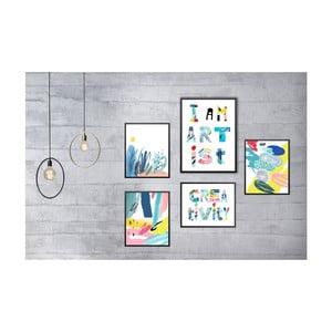 Sada 5 nástěnných obrazů Tablo Center Creativity