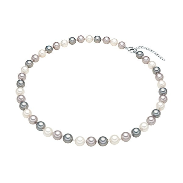 Náhrdelník s šedobílými perlami ⌀8 mm Perldesse Muschel, délka 42 cm