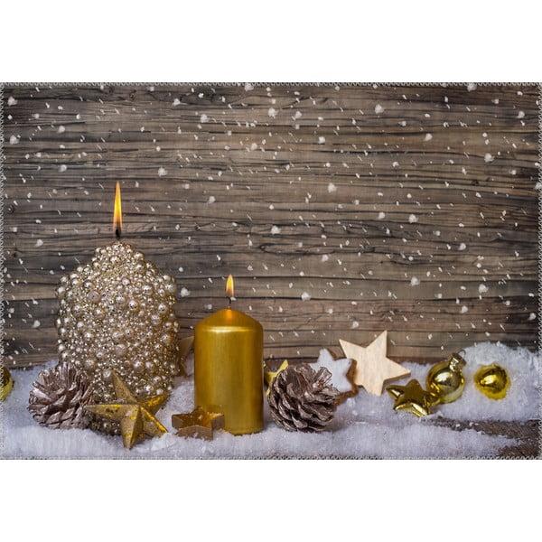Vianočné obdobie Koberec Vitaus Golden Rustikálne, 50 x 80 cm
