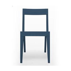 Modrá jídelní židle  z dubového dřeva  Another Brand Cubo