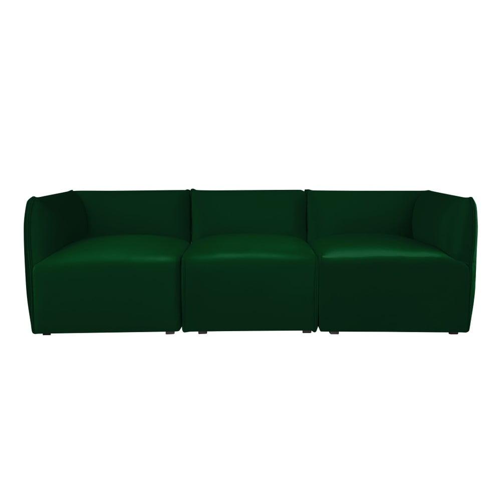 Zelená modulová třímístná pohovka Norrsken Ebbe