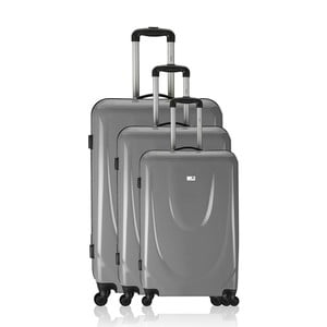 Sada 3 cestovních zavazadel Valises Grey