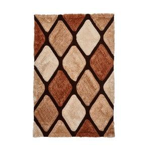Hnědý károvaný koberec Think Rugs Noble House, 150x230cm
