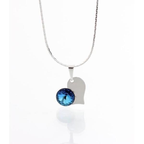 Modrý náhrdelník se Swarovski krystaly Yasmine Heart