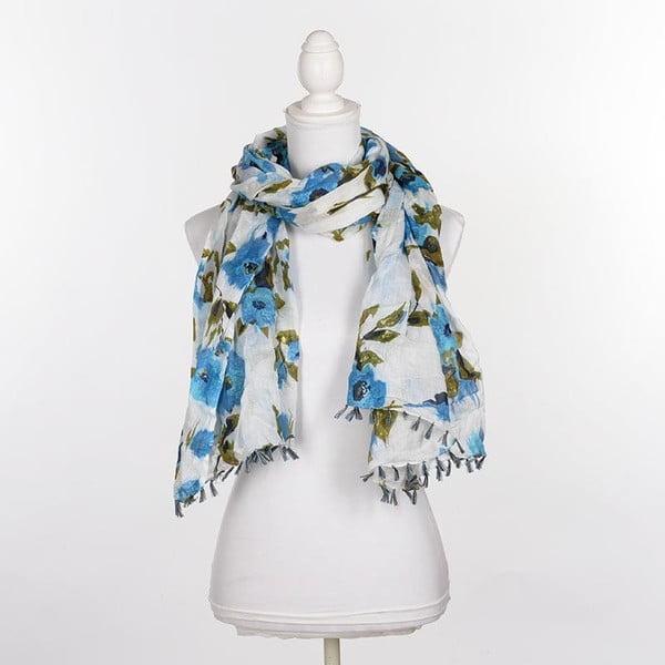 Šátek/pareo BLE Inart 100x180 cm, modrý