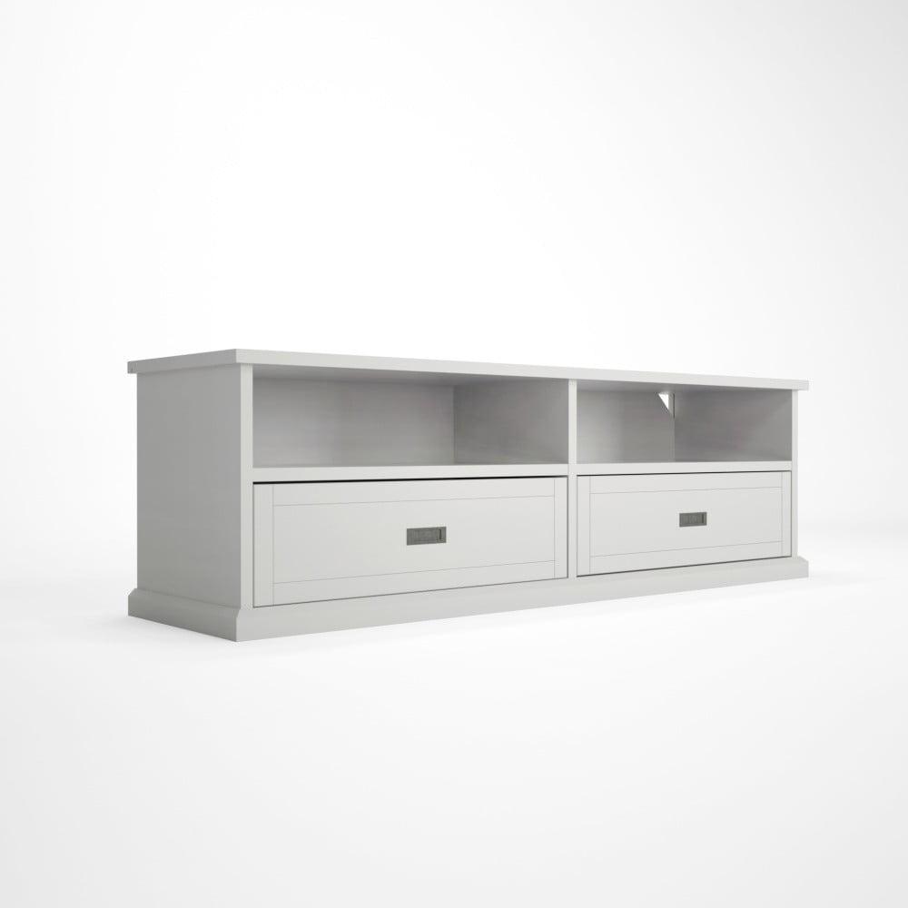 Bílý TV stolek z bukového dřeva Artemob Lass