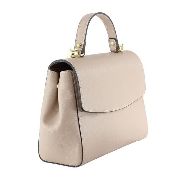 Pudrová kožená kabelka Maria