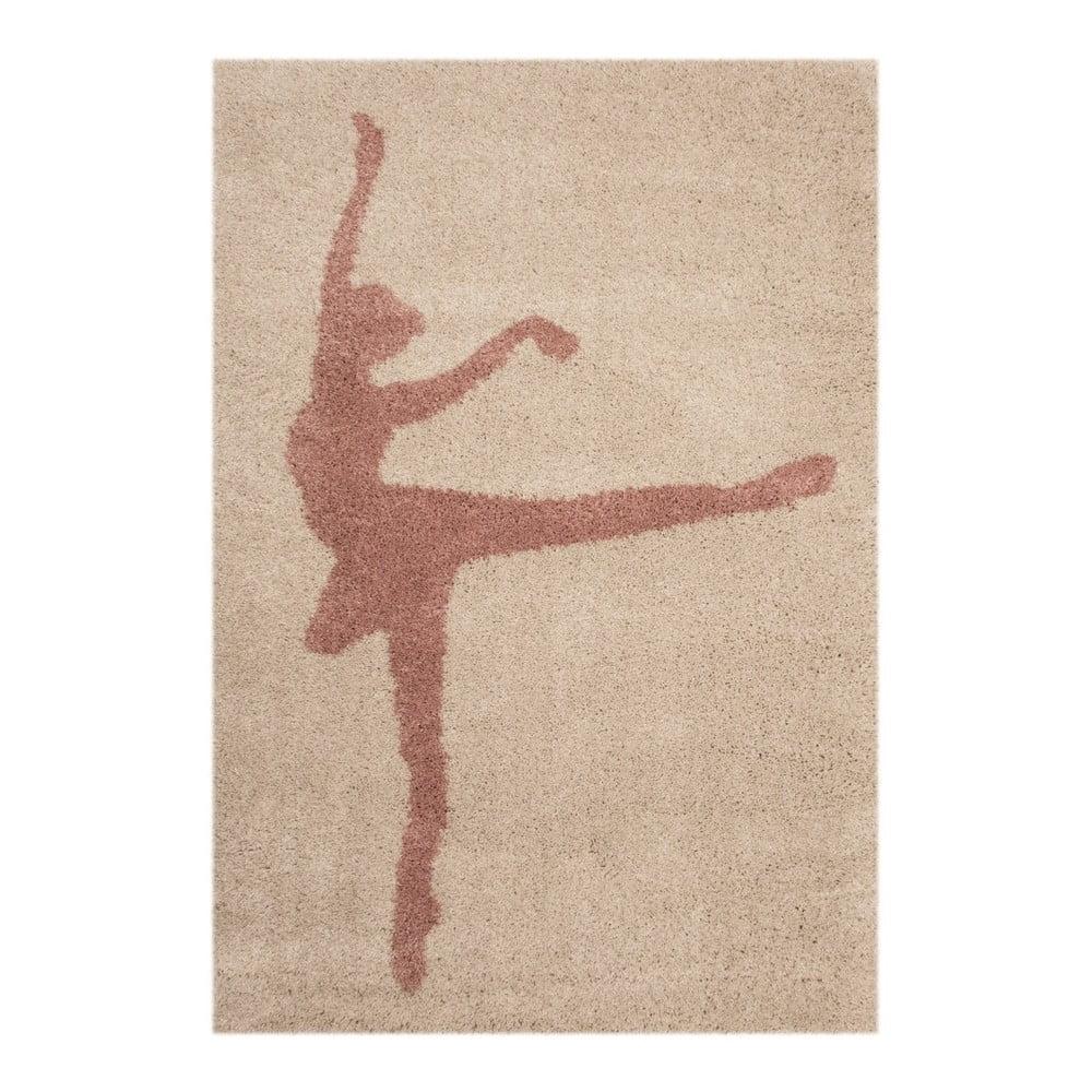 Dětský hnědý koberec Zala Living Ballerina, 120 x 170 cm