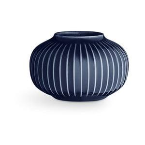Tmavě modrý porcelánový svícen na čajové svíčky Kähler Design Hammershoi, ⌀ 10 cm