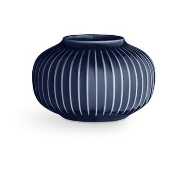 Sfeșnic din porțelan pentru lumânările de ceai Kähler Design Hammershoi, ⌀ 10 cm, albastru închis de la Kähler Design
