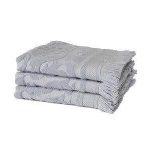 Sada 3 fialových ručníků z organické bavlny Seahorse,60x110cm