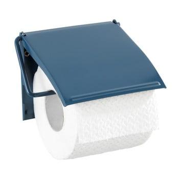 Suport de perete pentru hârtie toaletă Wenko Cover, albastru de la Wenko