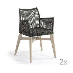 Set 2 scaune La Forma Rodini, gri închis