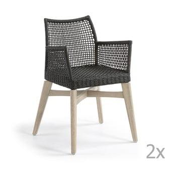 Set 2 scaune La Forma Rodini, gri închis de la La Forma