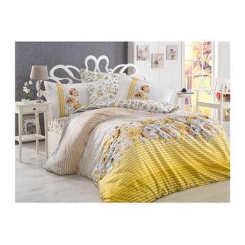 Lenjerie de pat cu cearșaf din bumbac poplin Fiesta,200x220cm de la Hobby