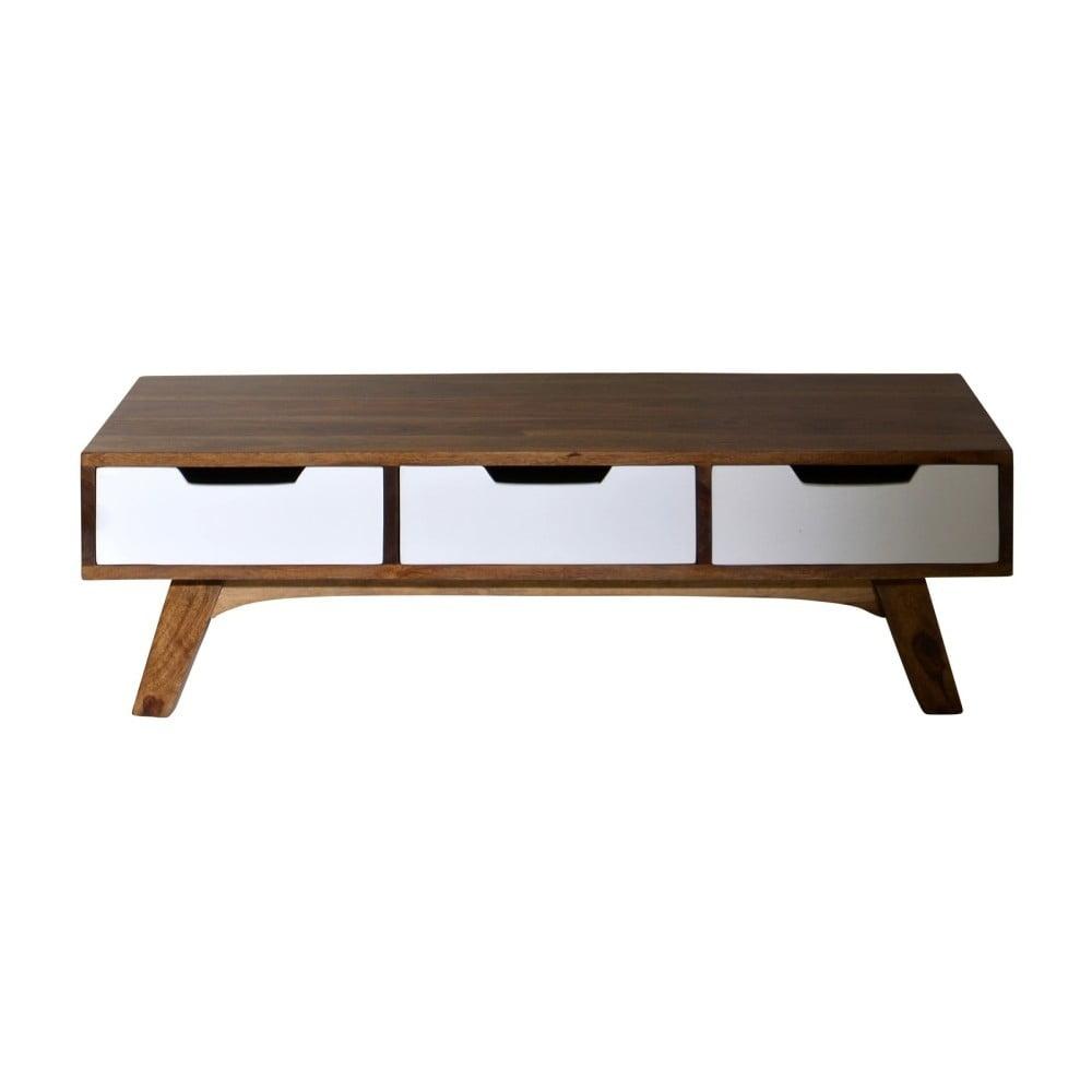 Konferenční stolek se třemi šuplíky z palisandru SOB Aides