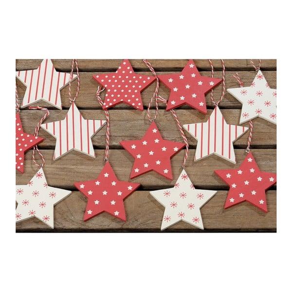 Sada 16 závěsných ozdob Winter Red Stars