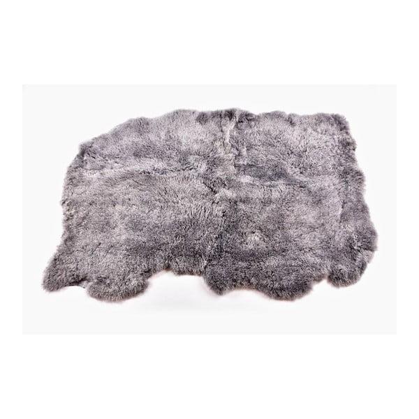 Kožešinový koberec s krátkým chlupem Grey, 165x110 cm
