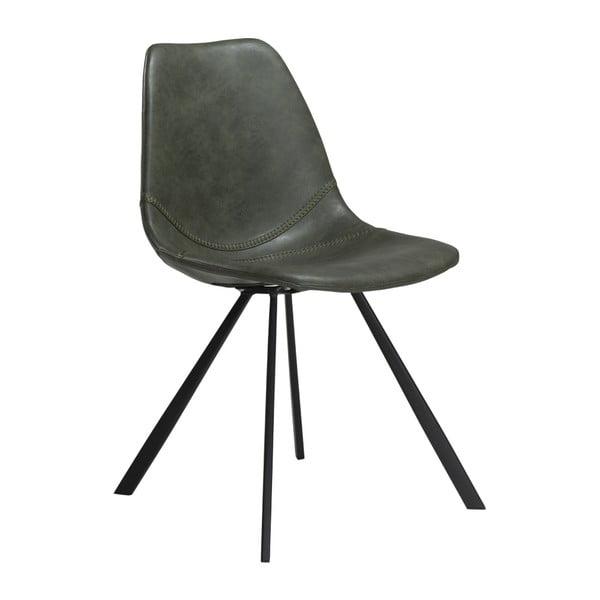 Zelená jídelní židle z eko kůže DAN–FORM Denmark Pitch