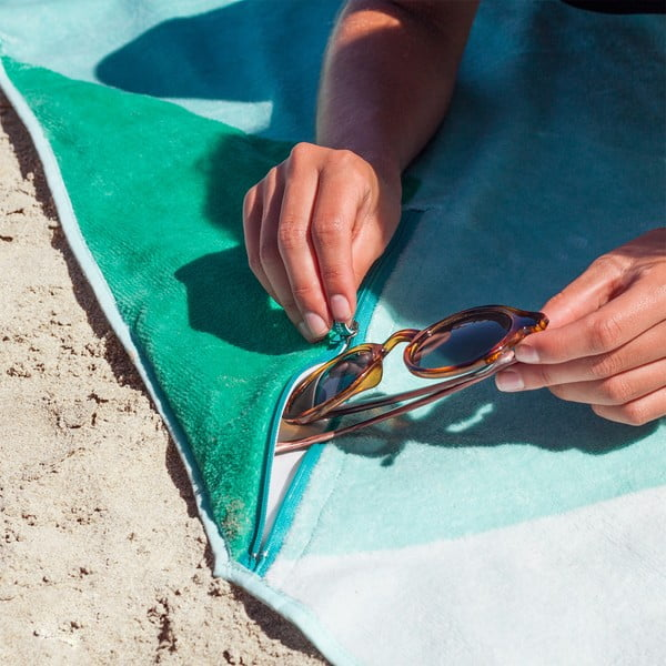 Designová plážová osuška Vertty Classic Blue