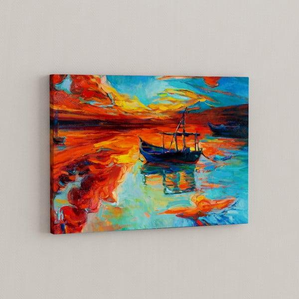 Obraz Loďka v divokém zálivu, 50x70 cm