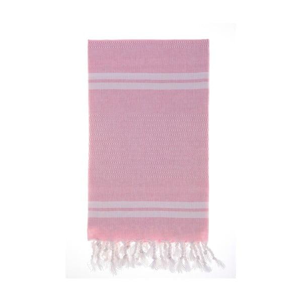 Hamam osuška Bodrum Pink, 100x180 cm
