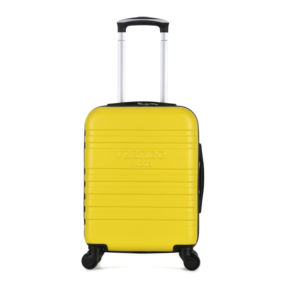 Žlutý cestovní kufr na kolečkách VERTIGO Valises Cabine Cadenas Muela
