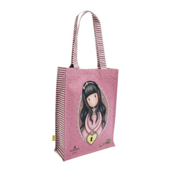 Fialová nákupní taška do ruky nebo na rameno Santoro London Secret