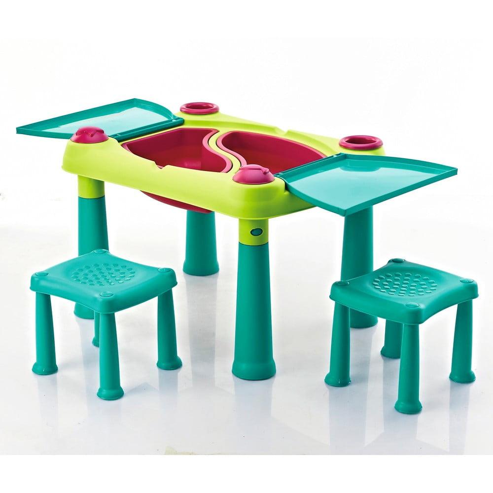 Set dětského herního stolu a 2 židliček Curver Creative