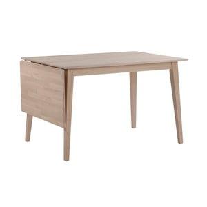 Matně lakovaný  sklápěcí dubový jídelní stůl Folke Mimi, délka 120-165cm
