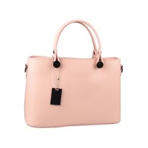 Růžová kožená kabelka Matilde Costa Banusa