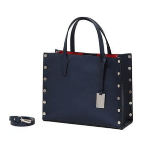 Tmavě modrá kabelka z pravé kůže Andrea Cardone Gavia