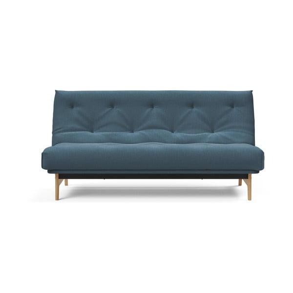 Modrá rozkládací pohovka Innovation Aslak Elegance Petrol, 92x200cm