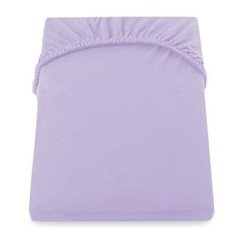 Cearșaf de pat cu elastic DecoKing Nephrite Violet, 180–200 cm, violet deschis de la DecoKing