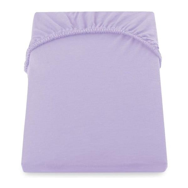 Cearșaf de pat cu elastic DecoKing Nephrite Violet, 180–200 cm, violet deschis