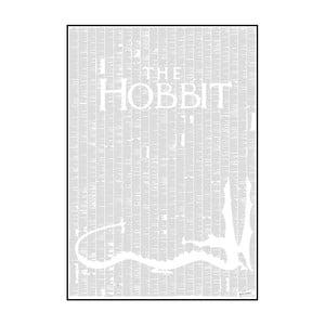 Knižní plakát Hobit, 70x100 cm
