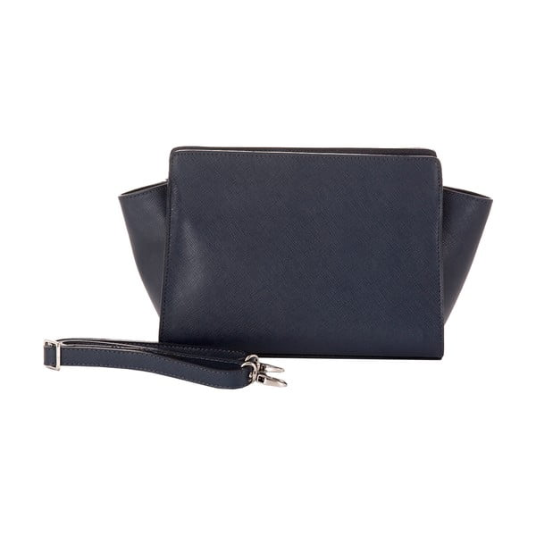 Tmavě modrá kožená kabelka Andrea Cardone 1008