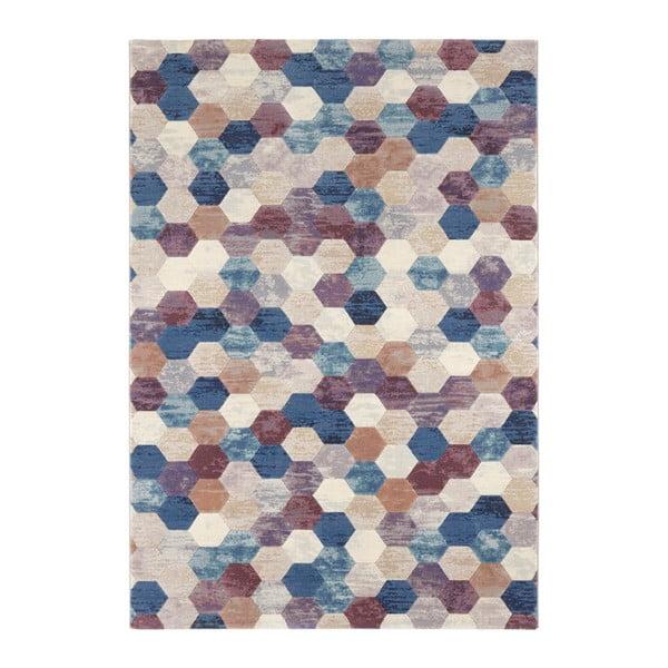 Covor Elle Decor Arty Manosque, 160 x 230 cm, albastru - violet