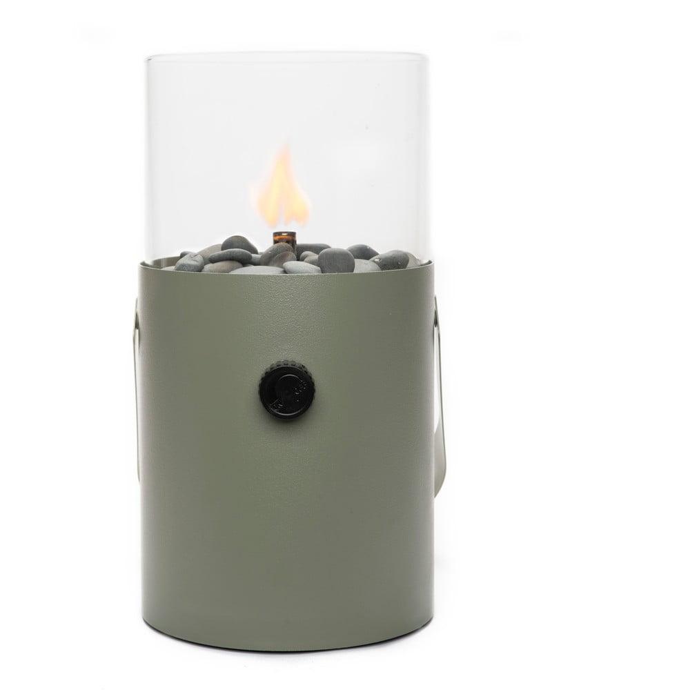 Olivově zelená plynová lampa Cosi Original, výška 30 cm