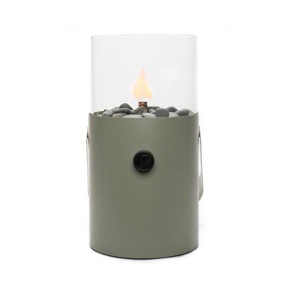 Olivovozelená plynová lampa Cosi Original, výška 30 cm