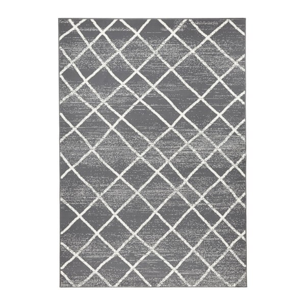 Ciemnoszary dywan Hanse Home Rhombe, 200x290 cm