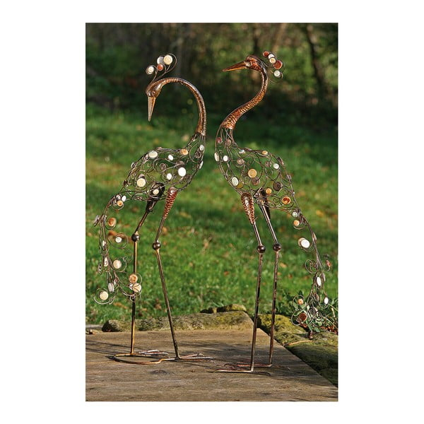 Sada 2 dekorativních soch Boltze Egret